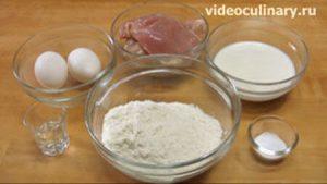 Ингредиенты Бабушкины куриные оладьи
