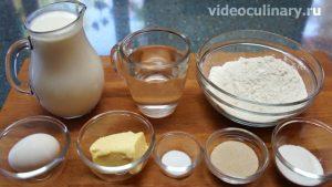 Ингредиенты Блины на дрожжах (на опаре)