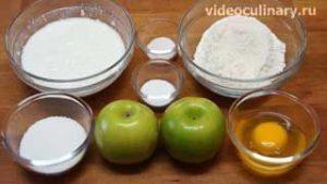 Ингредиенты Оладьи с яблоками