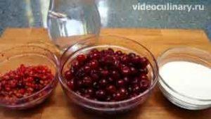 Ингредиенты Вишнёвый компот