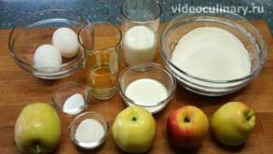 Ингредиенты Яблоки в тесте