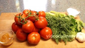 Ингредиенты Быстрая засолка помидоров в собственном соку