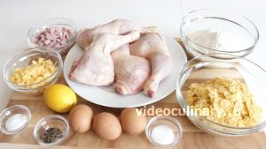 Ингредиенты Куринные окорочка, фаршированные ветчиной и сыром