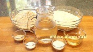 Ингредиенты Хлеб для начинающих с цельной (цельнозерновой) мукой