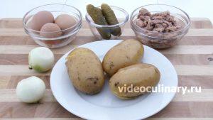 Ингредиенты Картофельный салат с тунцом