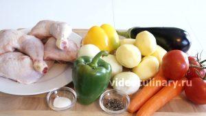 Ингредиенты Курица с овощами в собственном соку