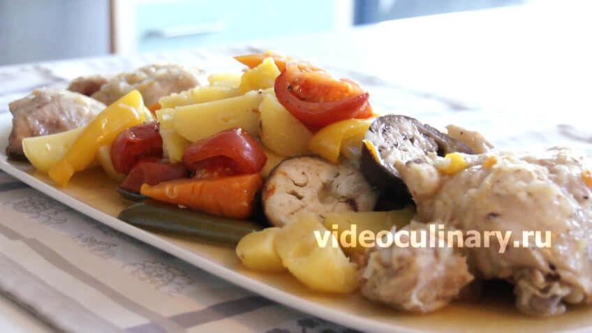 Курица с овощами в собственном соку