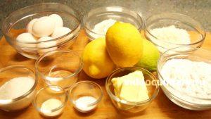Ингредиенты Лимонный рулет из бисквитного теста