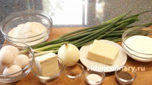 Ингредиенты Луковый пирог из песочного теста