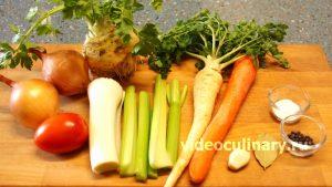 Ингредиенты Овощной бульон