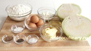 Ингредиенты Пирожки с капустой