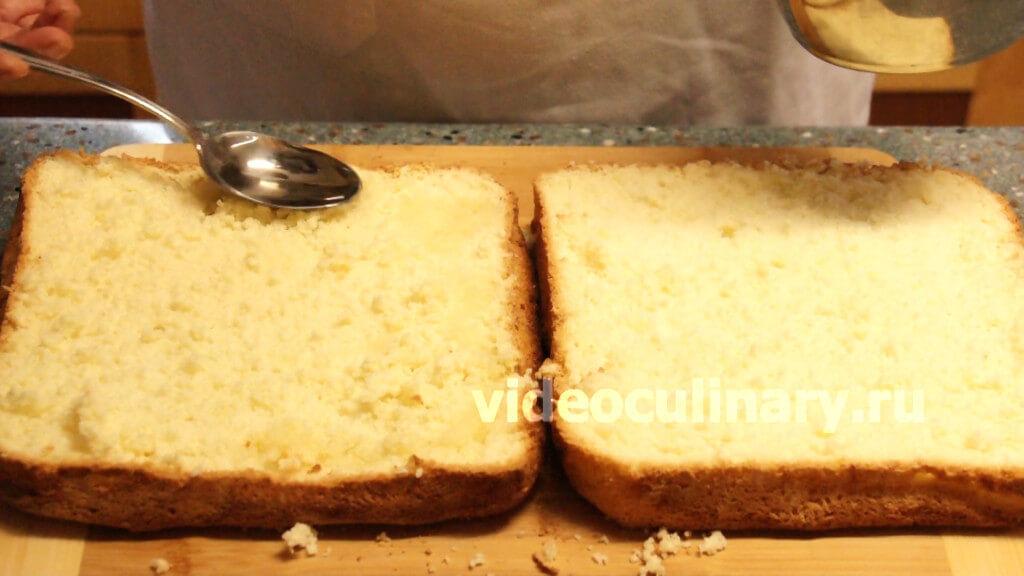 Торт с бисквитных коржей рецепт с пошагово