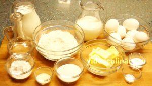 Ингредиенты Заварные пирожные Профитроли