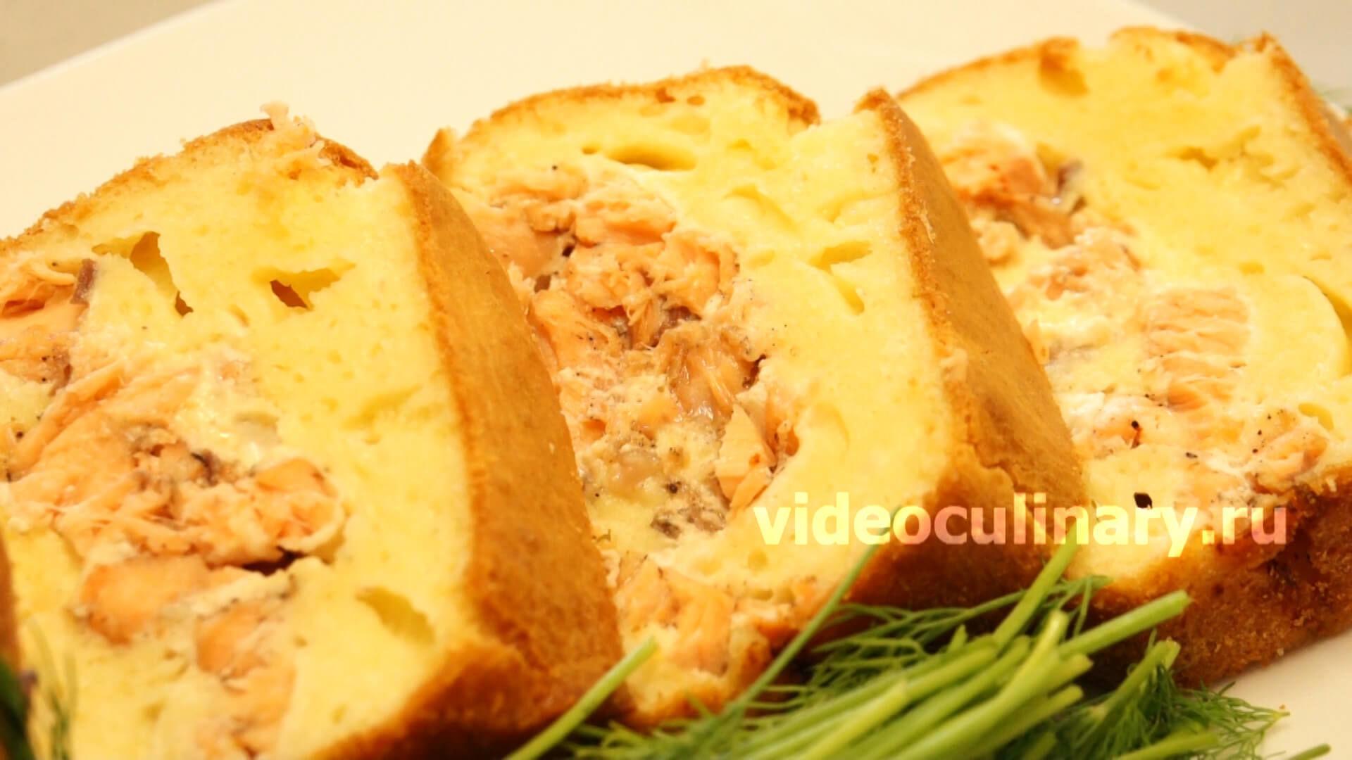 Пирог рыбный на майонезе