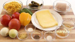 Ингредиенты Салат из кукурузы с колбасой