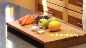 Ингредиенты Салат из моркови с яблоками и черносливом