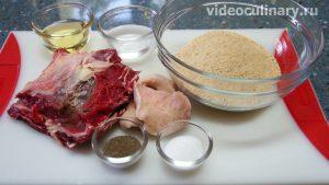 Ингредиенты Шницель из молотой говядины