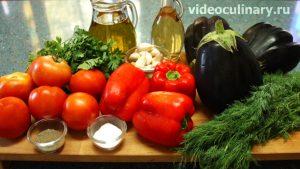 Ингредиенты Салат из баклажанов Балади