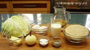 Ингредиенты Котлеты из рубленой капусты