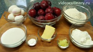 Ингредиенты Пирог со сливами