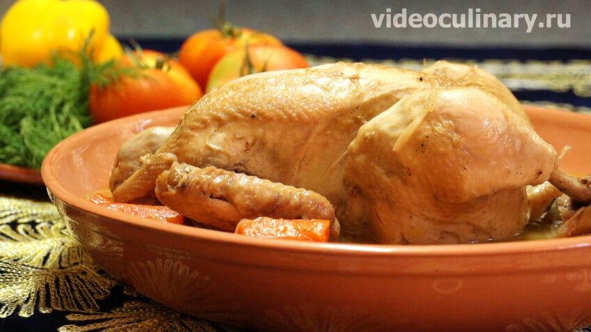 Курица тушённая в казане