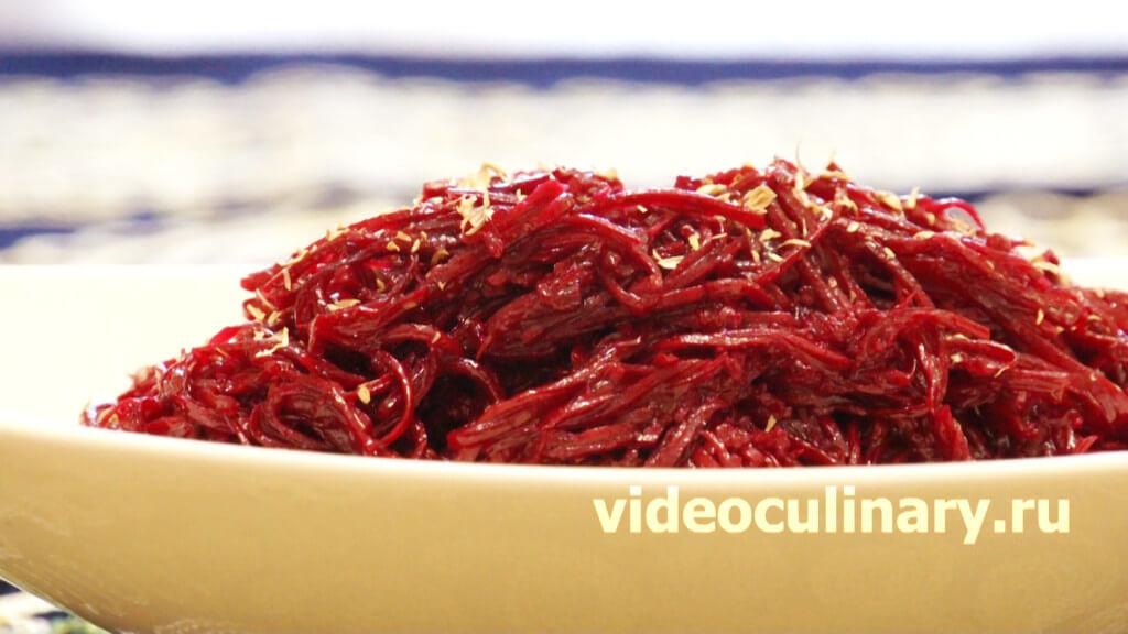 Салат со свеклой по корейски рецепт с очень вкусный