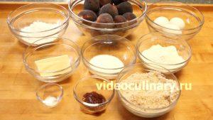 Ингредиенты Тарт с инжиром