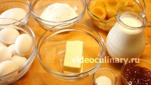 Ингредиенты Тарт с консервированными фруктами