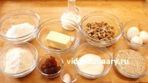 Ингредиенты Тарт с орехами и карамелью