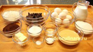 Ингредиенты Простой шоколадный бисквитный торт