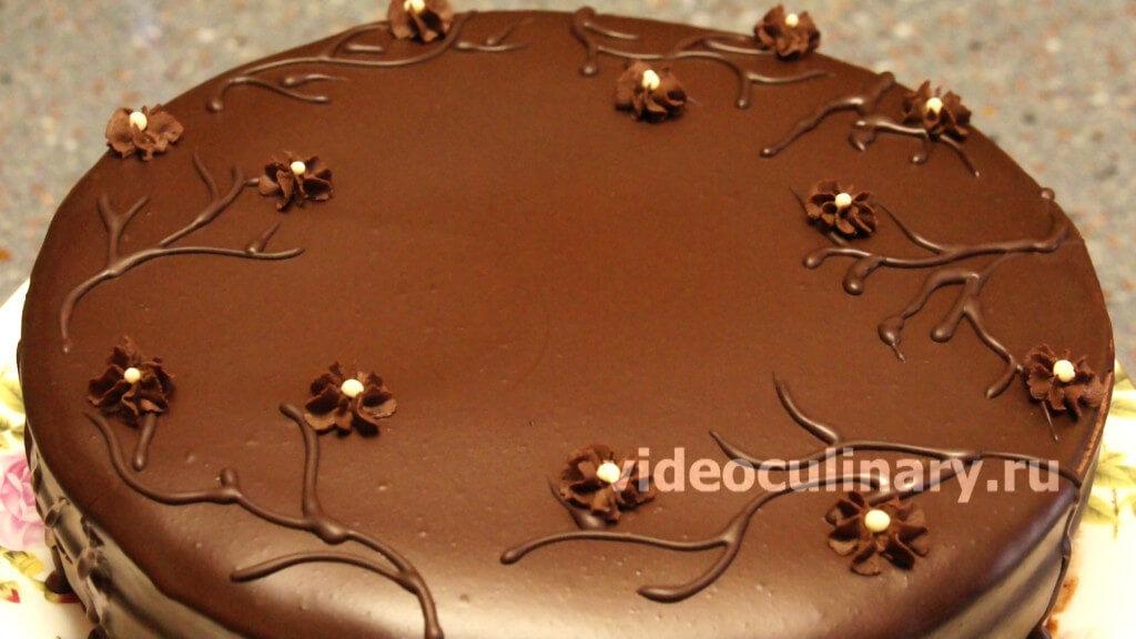 Шоколадный бисквит для торта простой