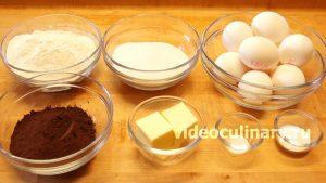 Ингредиенты Простой шоколадный бисквит