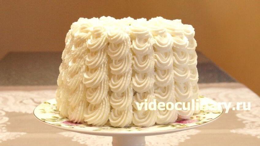 Бисквитный торт Невеста