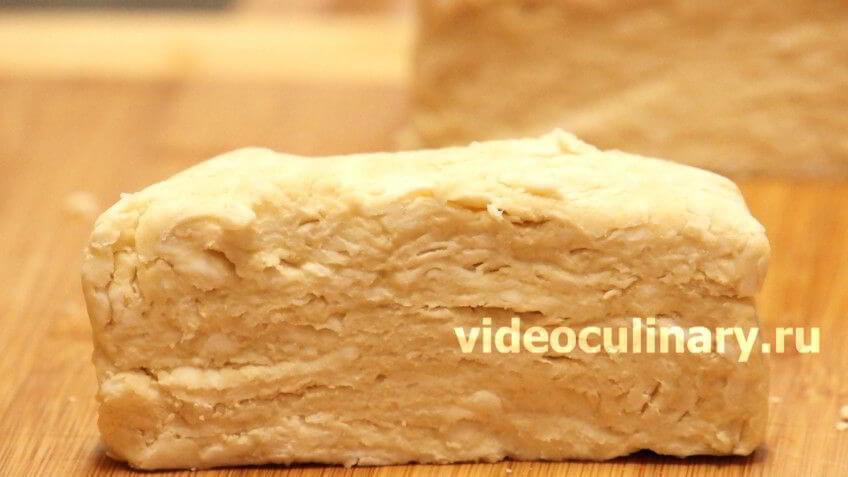 Слоёное тесто быстрого приготовления на желтках
