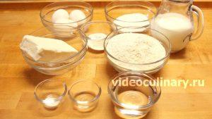 Ингредиенты Цветочек из слоеного теста с заварным кремом