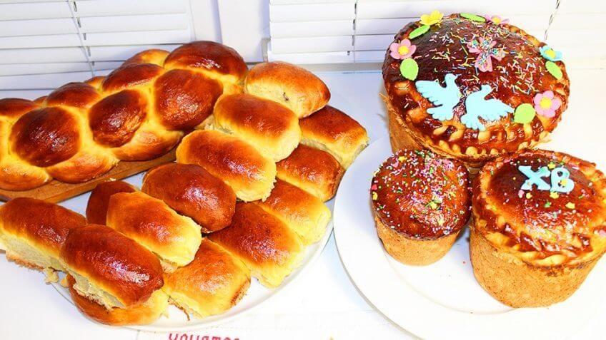 Пасхальный кулич, Пирожки и Булка-плетенка