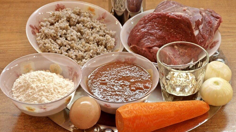 Ингредиенты Гречаники с мясом