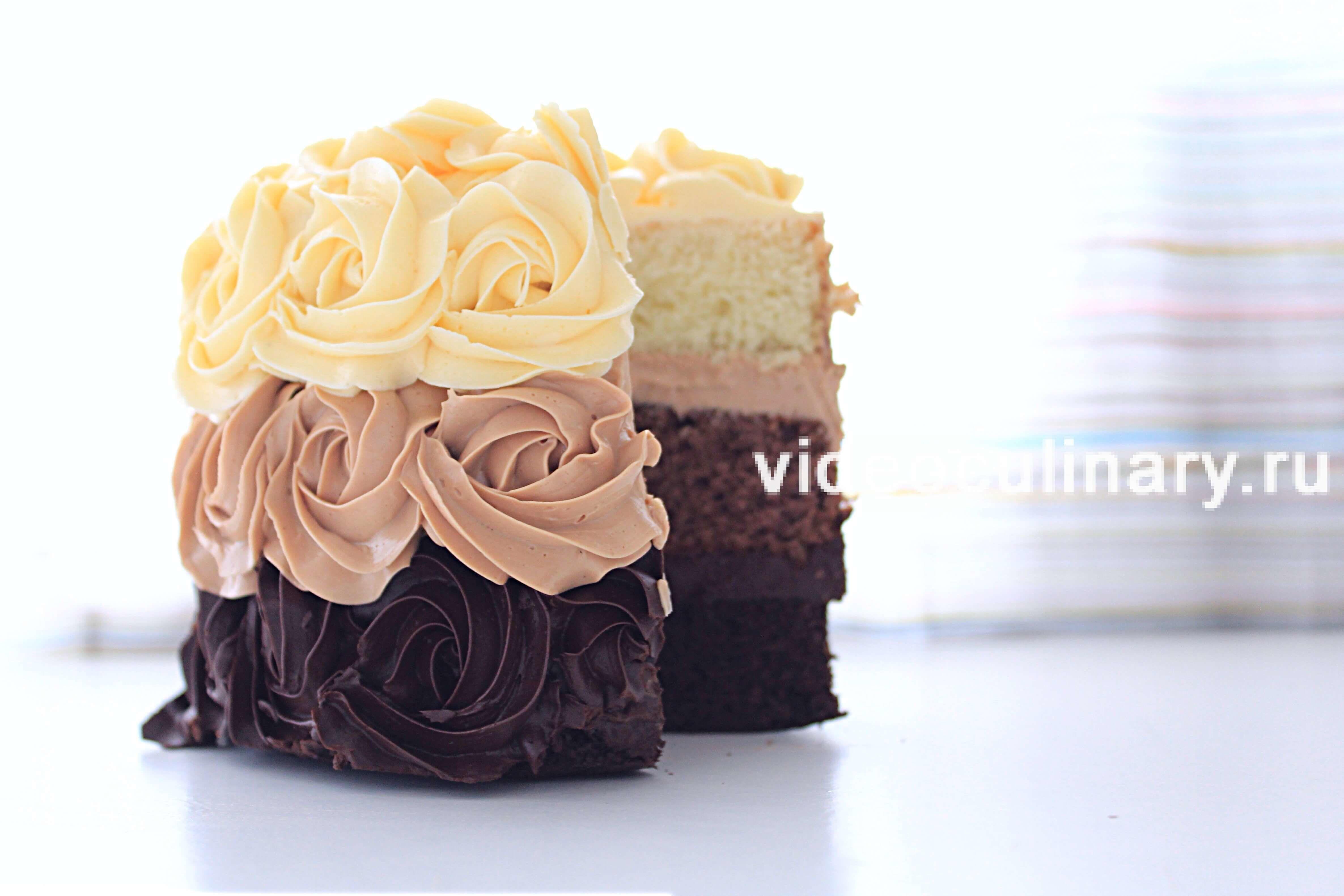 Торт Три Шоколада бисквитный