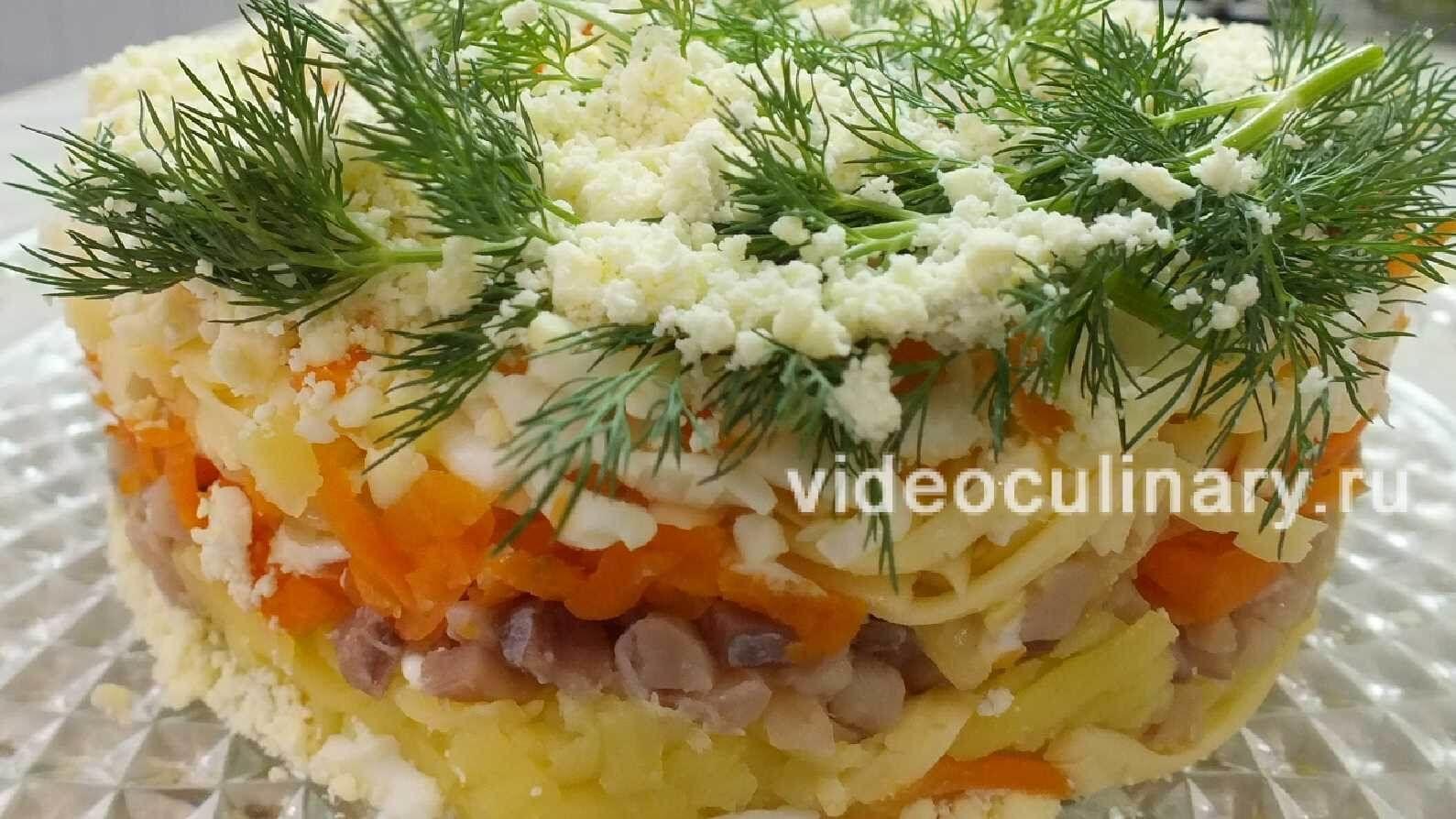 Салат Мимоза с малосольным лососем