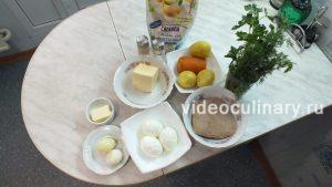 Ингредиенты Салат Мимоза с малосольным лососем