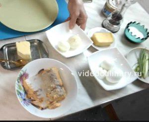 Ингредиенты Паштет рыбный с сыром