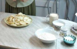 Ингредиенты Пирог яблочный на ряженке