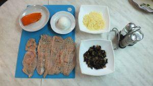 Ингредиенты Рулетики куриные с грибами и сыром