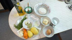 Ингредиенты Суп куриный с клёцками
