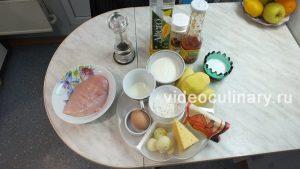 Ингредиенты Запеканка из картофеля и курицы