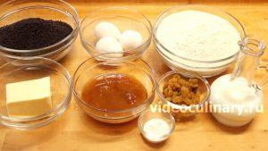 Ингредиенты Медовый пирог с маком