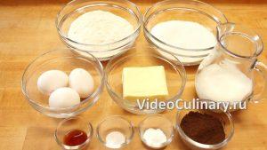 Ингредиенты Пирог Зебра