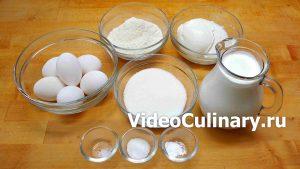 Ингредиенты Простой бисквитный торт Маскарпоне