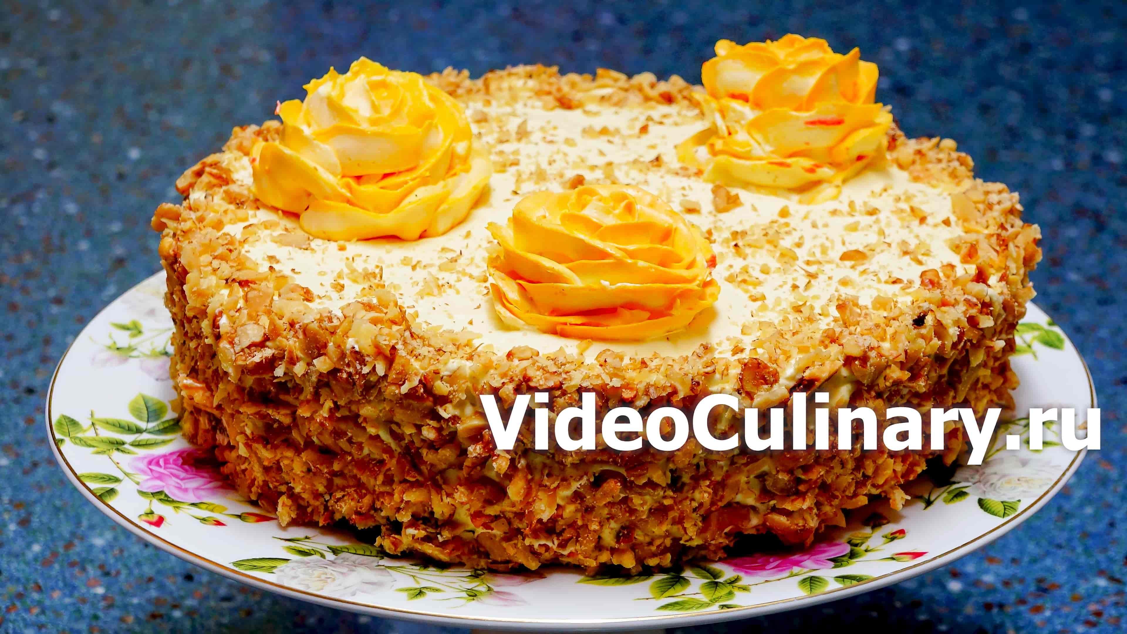 Простой бисквитный торт с заварным кремом