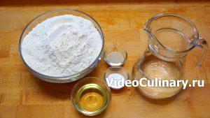 Ингредиенты Дрожжевое тесто для пирожков, жаренных во фритюре